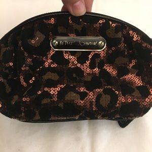 Betsey johnson sequin leopard print small bag